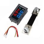 New 0.56″ Blue Red Dual LED Display Mini Digital Voltmeter Ammeter DC 100V 100A Panel Amp Volt Voltage Current Meter Tester