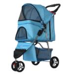 New Honana  Light Folding Pet Cart Three Wheels Pet Cart Outdoor Travel Pet Cart for Dog Cat Teddy Stroller
