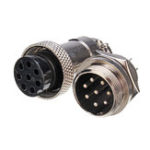 New GX20 8 Pin 20mm Male & Female Wire Panel Circular Connector Aviation Socket Plug