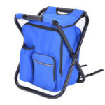 New Outdoor Portable Folding Chair Waterproof 600D Oxford Cooler Ice Bag Foldable Seat Stool Camping Picnic