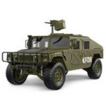 New HG P408 1/10 2.4G 4WD 16CH 30km/h Rc Model Car U.S.4X4 Military Vehicle Truck without Battery Charger