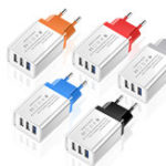 New 5V 2A 3 USB Travel Charger Power Adapter For Smartphone Tablet PC