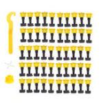 New 51Pcs Plastic Ceramic Leveler Tools T Leveling System Kit For Tiles