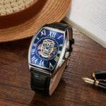 New SEWOR Fashion Hollow Skeleton Pattern Mechanical watch