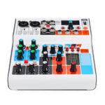 New B6 DC 5V 6 Channels USB bluetooth Stereo Mixer Live Broadcast Studio Audio Mixing Console