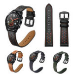 New Bakeey 22mm Replacement Genuine Leather Ventilation Hole Watch Band Strap for Huawei GT Smart Watch