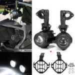 New Second Generation LED Auxiliary Fog Spot Light Driving Aluminum Alloy Lamp+Protector Cover For BMW R1200GS ADV F800G