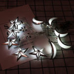 New Battery Powered 10PCS Moon Star Shape Eid Ramadan LED String Light Indoor Home Party Decor