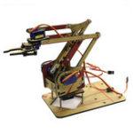 New 4 DOF Acrylic Unassembled DIY Robot Arm + 4Pcs SG90 9g Mini Servo DIY Kit for Arduino Maker Learning