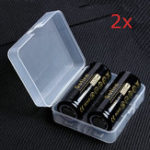 New 4Pcs Sofirn 3.7V 5000mAh Protected Rechargeable 26650 Battery With Storage Case High Capacity Lithium Battery Li-ion Batteries