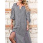 New Lace Stitching Split Dress