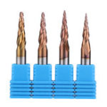 New Drillpro R0.25/ R0.5/ R0.75/ R1.0 *20*D6*50 2 Flutes Taper Ball Nose End Mill HRC50 Milling Cutter