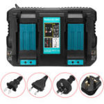 New Dual Twin Port Battery Charger For Makita DC18RD Li-ion LXT 7.2V-18V Fast Rapid