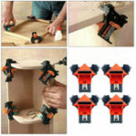 New 4pcs Woodworking 90 Degree Right Angle Clamp Clip Quick Picture Frame Corner Clamp