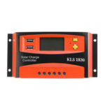New 30A 12V/24V PWM Solar Panel Battery Regulator Charge Controller LCD Dual USB