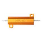 New 5pcs RX24 50W 0.1R 0.1RJ Metal Aluminum Case High Power Resistor Golden Metal Shell Case Heatsink Resistance Resistor