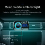 New BC49BQ QC3.0 Fast Car Charger Voice Control bluetooth Handsfree MP3 Player Digital Lights
