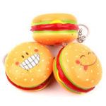 New Hamburger Squishy Hanging Ornament Slow Rising Soft Toy Gift With Packaging