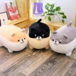 New 40/50CM Cute Fat Shiba Inu Corgi Doll Pillow Dog Plush Stuffed Kawaii