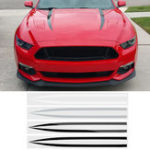 New 2 PCS Exterior Hood Bonnet Stripes Car Stickers Decal Trim For Ford Mustang 2015-2017 4 Colors