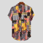New Mens Summer Ethnic Printed Colorful Casual Shirts
