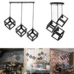 New Vintage Style Loft Iron Metal Chandelier Light Fixture Pendant Ceiling Lamp
