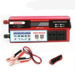 New 6000W Peak DC 12V/24V to AC 110V Power Inverter Digital Modified Sine Wave 4 USB Port 2 Sockets