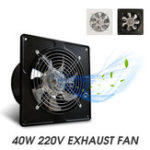 "New 40W 6"" Exhaust Fan 6"" Exhauster Muffler Wall Mounted Low Noise Air Vent Ventilation"