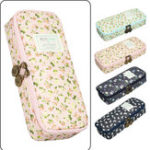 New Cartoon Floral Pencil Case Large Capacity Pencil Bag Cute Pen Box Storage Pouch