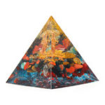 New Orgonite Pyramid Energy Chakra Multiplier Reiki Orgone Peridot And Rainbow Fluorite Healing Decorations