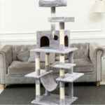 New Multi-Level Cat Tree with Sisal-Covered Scratcher Slope Scratching Posts Plush Perches and Condo Activity Center Cat Tower Furniture Pet Bed