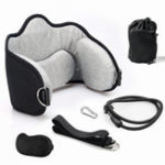 New Adjustable Head Stretcher Memory Foam Hammock Neck Support Pain Relief Massager Cervical Traction