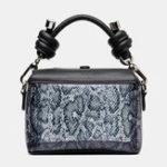 New Women Square Mini Animal Pattern Handbag