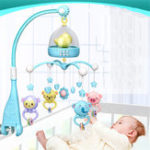 New Musical Crib Mobile Bed Bell Toys Plastic Hanging Rattles Night Light High-end Musical Crib Mobile Baby Toys for 0-12 Months Baby