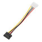 New 3pcs SATA Power Female To Molex Male Adapter Converter Cable 6-Inch
