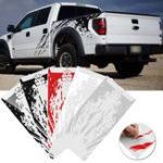 New 2 PCS Vinyl  Car Side Bed Mud Splash Kit Decal Stickers Fit For Ford Raptor SVT F-150 2009-2018