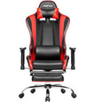 New Merax Ergonomic Office Chair Racing Gaming Chair with Adjustable Armrests High-Back PU Leather Chair Folding Chair with Footrest for Home Office