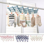 New 29 Clips Cloth Folding Laundry Underwear Socks Bra Airer Hanger Drying Rack Organizer