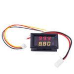 New Digital Voltmeter Ammeter Car Current Meter Dual Display 100V 10A DC Gauge Amperemeter Red+Yellow LED Tester Voltage Monitor