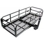 New TOPMAX Foldable Hitch Cargo Carrier Mounted Basket Luggage Rack with 2 Inch Receiver Luggage Carrier