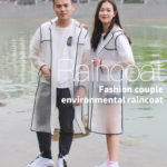New Fashion Couple EVA Environmental Raincoat Transparent Outdoor Travel Waterproof Raincoat