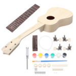 New DIY 21 Inch Basswood Handwork Support Painting Ukulele With Musical Accessories