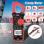 New TA8315D Clamp Meter Multimeter High Precision Digital Ammeter Table  AC and DC Universal Automatic Multifunction