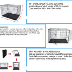 New New Arrival Wholesale Large Outdoor Powder Coating Welded Wire Iron Dog Cages 48″Dog Crate Pet Bed