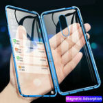 New Bakeey 360º Curved Screen Front+Back Double-sided Full Body 9H Tempered Glass Metal Magnetic Adsorption Flip Protective Case For OnePlus 7 PRO