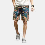 New Mens Ethnic Style Pattern Printing Summer Casual Shorts