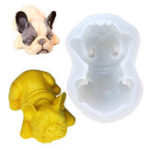 New Bull Dog Silicone Soap Mold Animal Chocolate Model Cake Mould Decor DIY Baking Tool