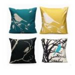 New 45x45cm Bird Square Pillow Case Cushion Cover Sofa Throw Home Bedroom Decor