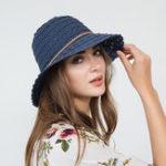 New Woman Multi-color Openwork Petal Pattern Straw Hat