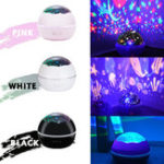 New LED Rotation Cosmos Ocean Sky Starry Star Projector Night Light Bed Lamp Gifts